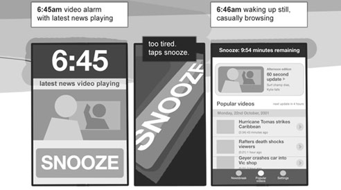 Storyboard: Wakeup to News
